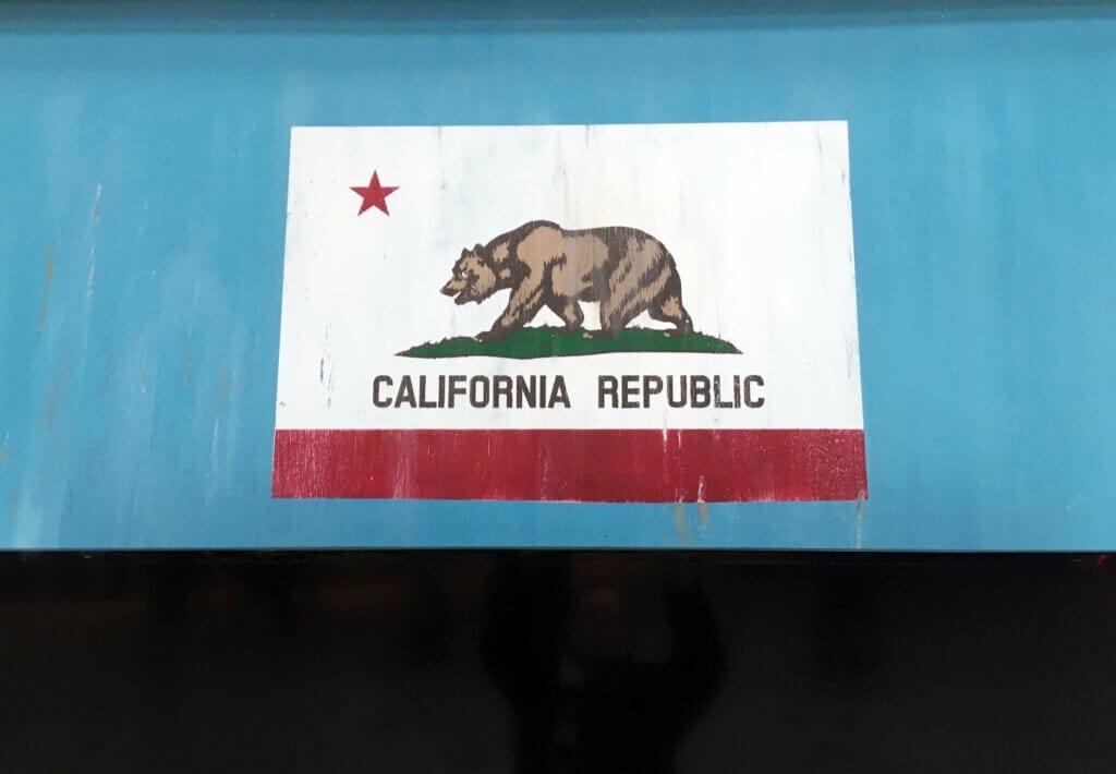 Detail Beach House California Flagge